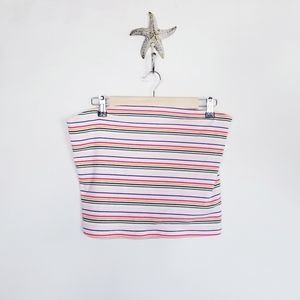 AE Outfitters Tube Top Multi color stripes XLg